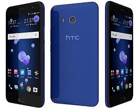 HTC U11 Sapphire Blue 3D