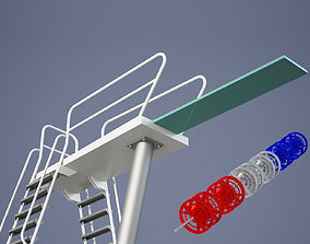 Swimming Diving Board 3D model