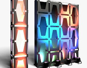 3D model Stage Decor 30 Modular Wall Column