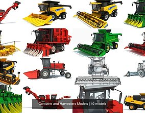 Combine and Harvesters Models 3D