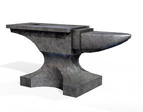 Anvil 3D asset low-poly