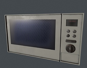Microwave - Low Poly Microwave 3D model