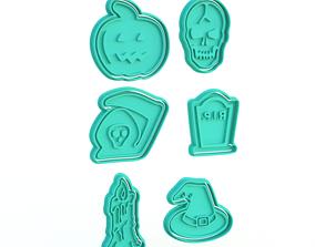 3D printable model Halloween Cookie Cutter Set of 6