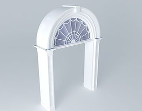 3D Archway with Glass Window