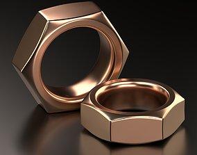 3D print model Screw Nut ring Jewelry Design wedding band