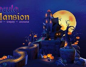 Dracula Mansion 3D asset