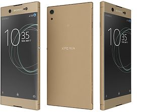 Sony Xperia XA1 Ultra Gold 3D