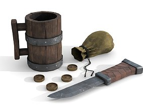 3D asset Travelers Personal Items