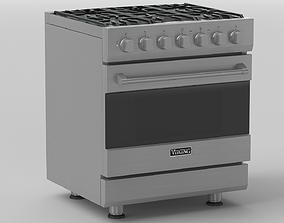 3D Viking 30in Self-Cleaning Dual Fuel Range - RVDR3302