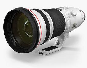 Canon EF 400mm f 2-8L IS II USM Super Telephoto 3D asset