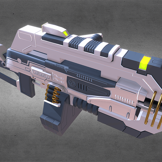 Futuristic Machine Gun