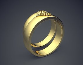 Engraved Engagement Rings 2538 3D print model