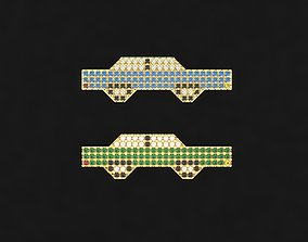 1980s style Car Pendant Pin Badge 3D printable model