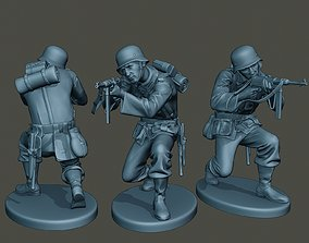 German soldier ww2 Shoot crouched G2 3D printable model