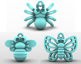 Charm pendant - adorable little insect 3D model