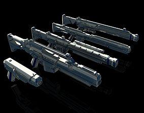 Sci-Fi Gun Pack 3D model