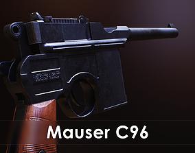 3D asset low-poly Mauser C96