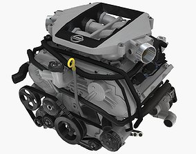 3D asset Nissan GTR 2010 VR38DETT engine