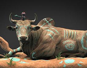 Bull and mouse 3D print model pitbull