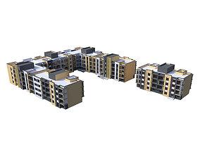 3D model city Residential building