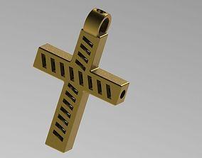 Pendant Cross christ 3D print model