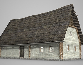 3D asset Pointed Peasant House of Ancient Architecture