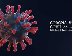 3D model Corona Covid-19 Virus