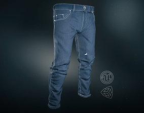 Blue Jeans Pants 3D model