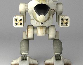 MechWarrior 3D asset animated