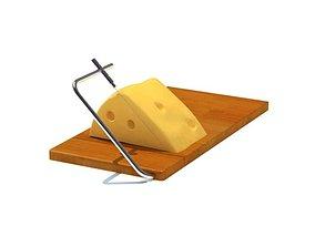 Wooden Cheese Cutter 3D