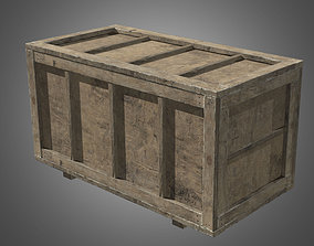 Wooden Crate 2 - PBR Game Ready 3D model