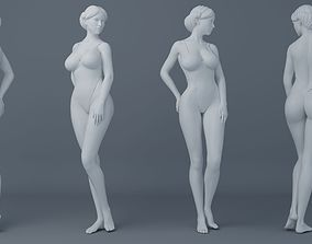 3D print model Fullness woman wearing swimsuit 002