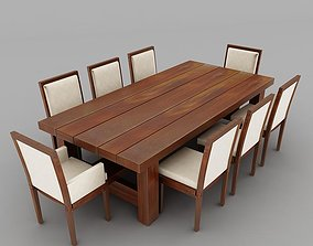 dinning table loveseats 3D
