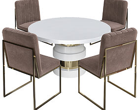 realtime Boca Round Dining Table 3d model