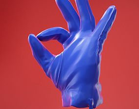 3D model Male Gloved Hand 18