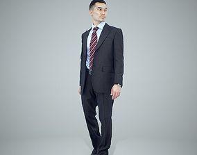 Standing Business Man Wearing Suit 3D model