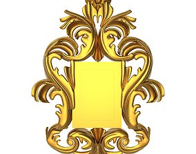 wall-mirror 3D carved frame