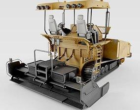 3D model Asphalt Paver bulldozer