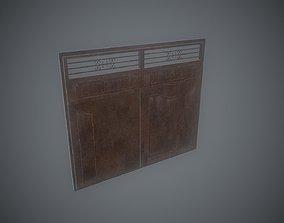 3D model Old Rusty Metal Gates