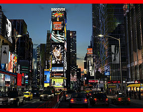 Times Square Animated 3D model