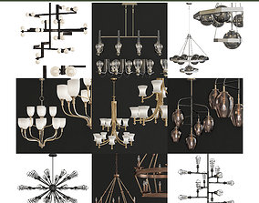 VR / AR ready Chandeliers 3d models Collection 10 pieces