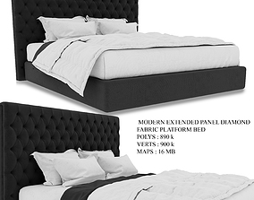 3D ModeRn Extended Panel Diamond Bed