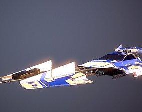 3D asset SciFi Dessert Racer LowPoly