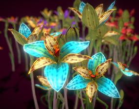 Flower Thelymitra Pulcherrima 3D asset