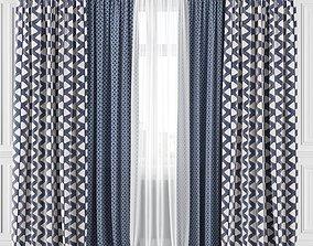 render-store Curtain Set 218C 3D model