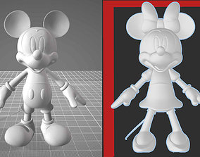 Mickey Mouse and Minnie Mouse - 2 PACK - HI RES 3D PRINT