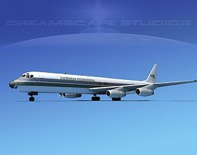 Douglas DC-8-63F Evergreen 3D model