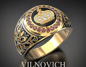 3D print model ring with crown