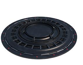 Sci-Fi Platform Cyberpunk Spaceship 3D model