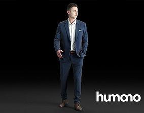 3D model Humano Elegant Business Man in a suit Walking